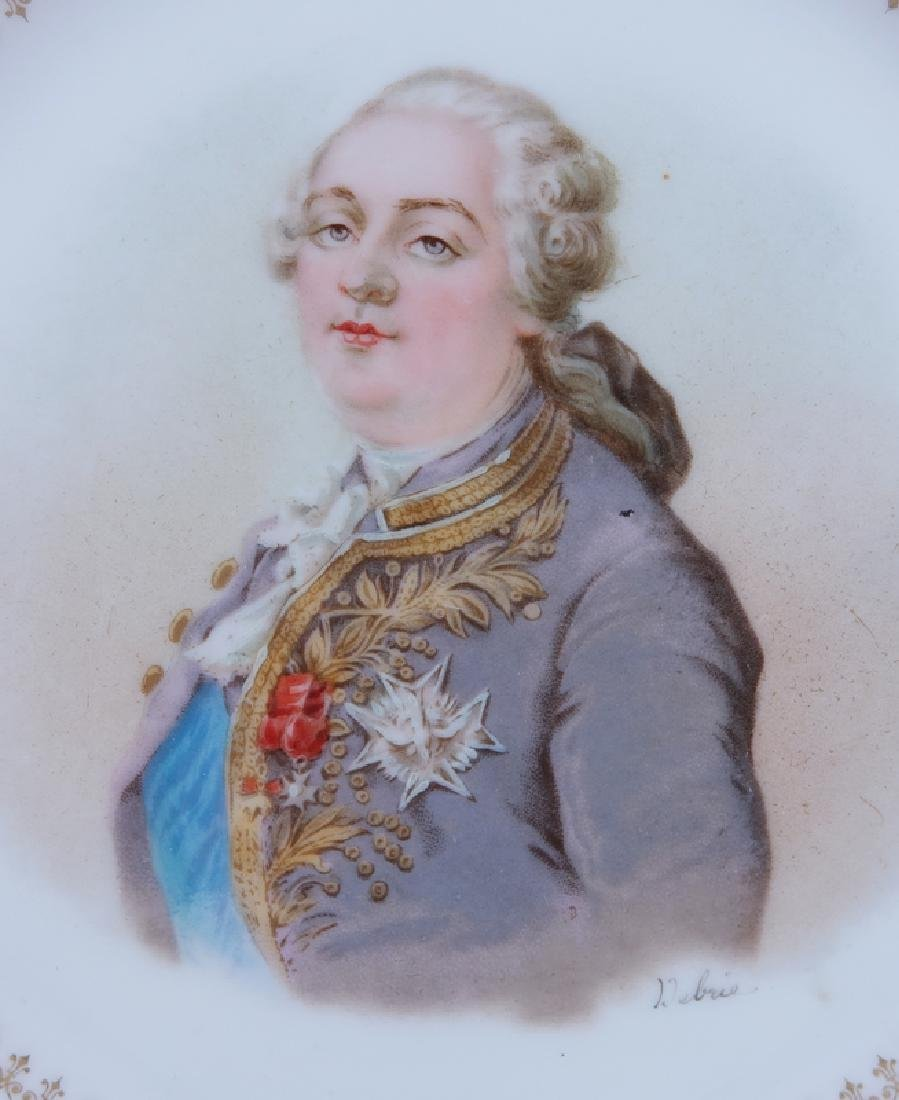 19/20th Century Sevres Portrait Plate. Painted with a - 2