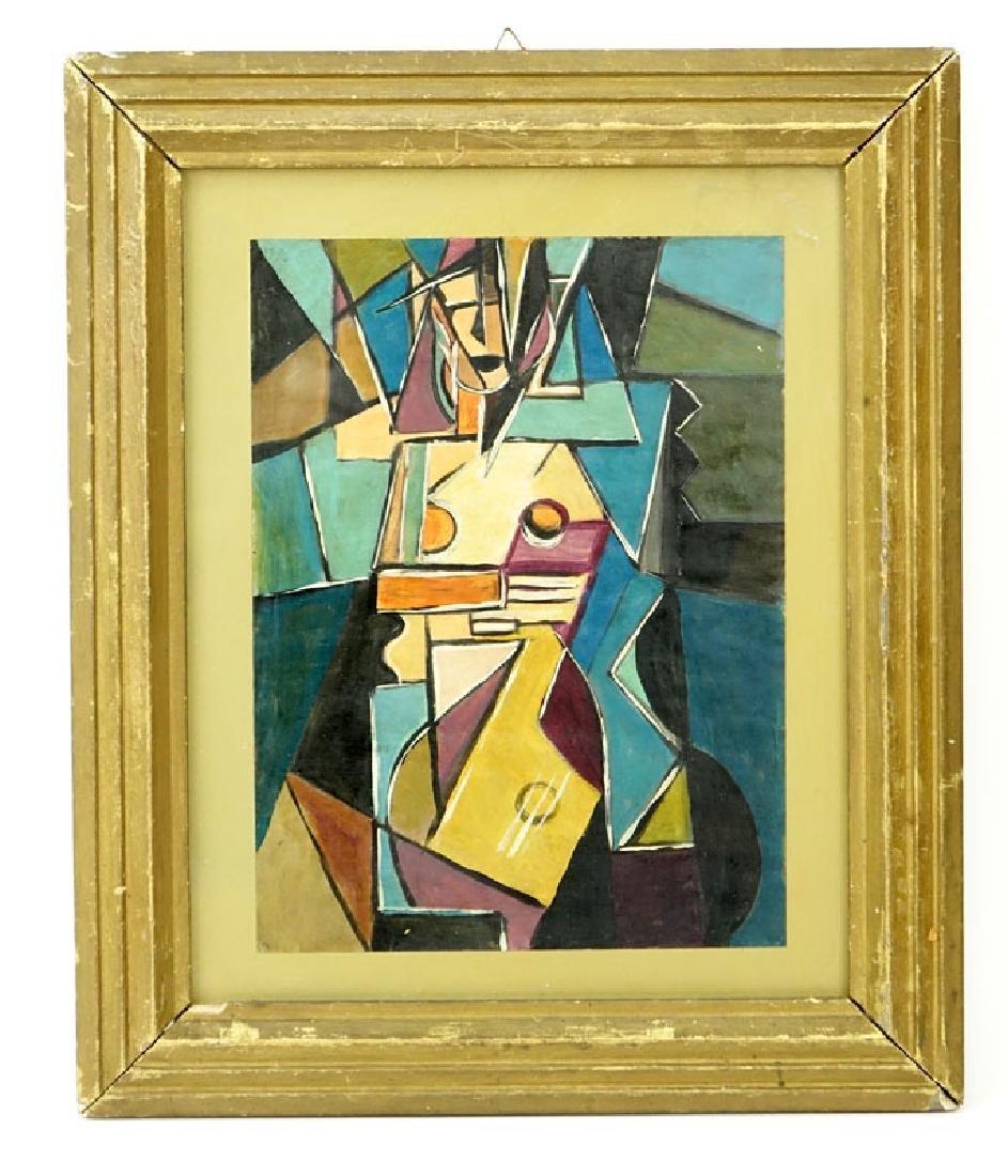 "1930's Russian School Gouache On Paper ""Cubist - 2"