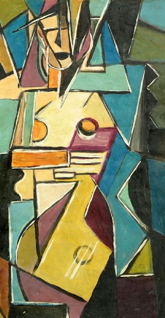 "1930's Russian School Gouache On Paper ""Cubist - 3"