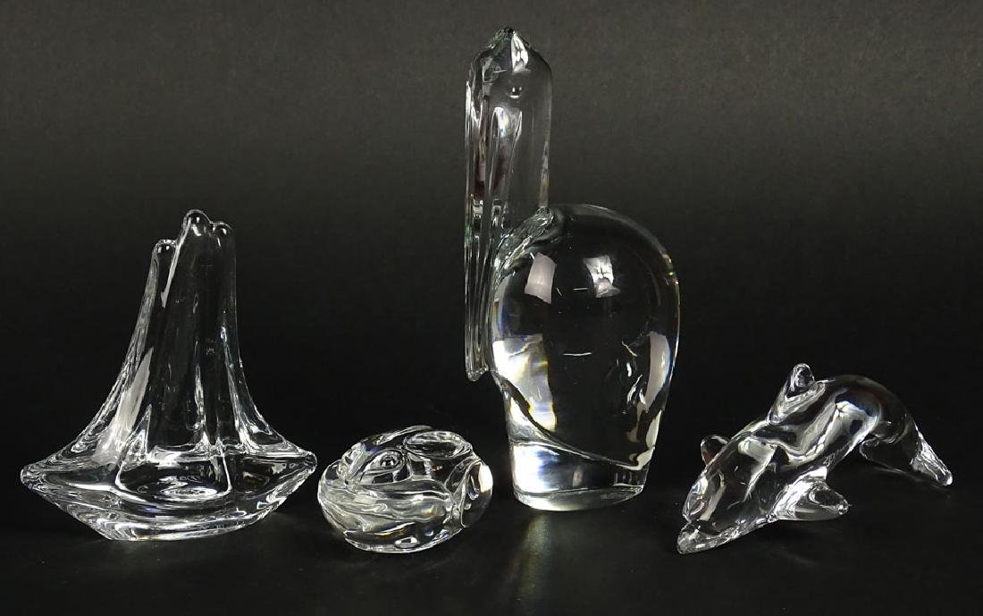Lot of four (4) Crystal Animal Figurines. Includes - 2