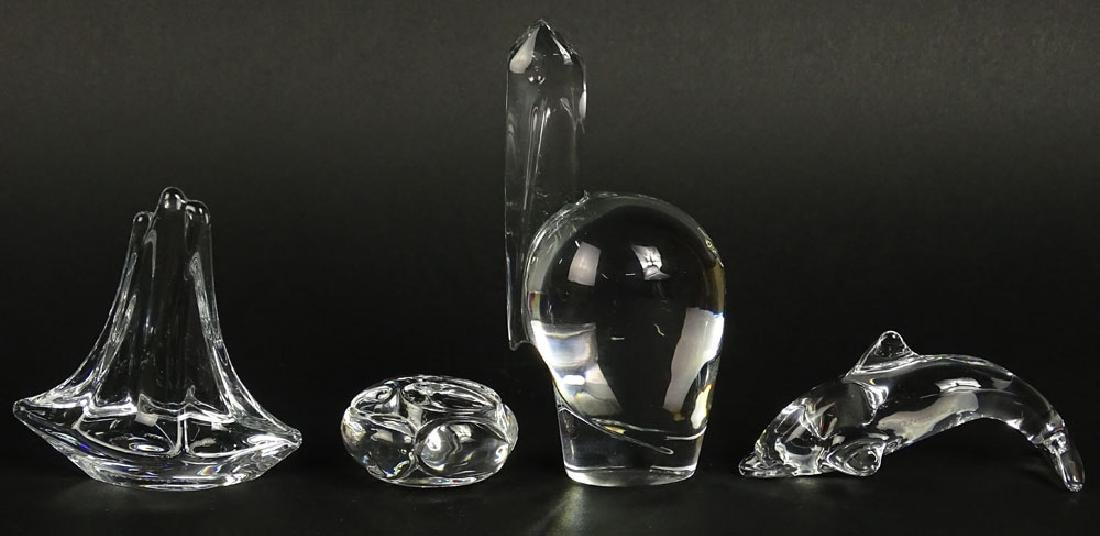 Lot of four (4) Crystal Animal Figurines. Includes - 3