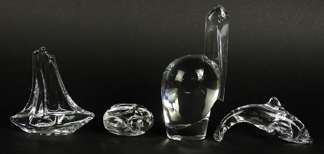 Lot of four (4) Crystal Animal Figurines. Includes - 4
