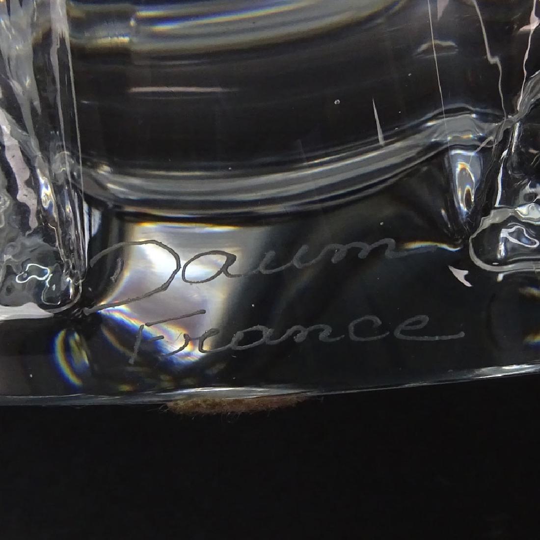 Daum France Crystal Centerpiece Bowl. Signed Daum - 4