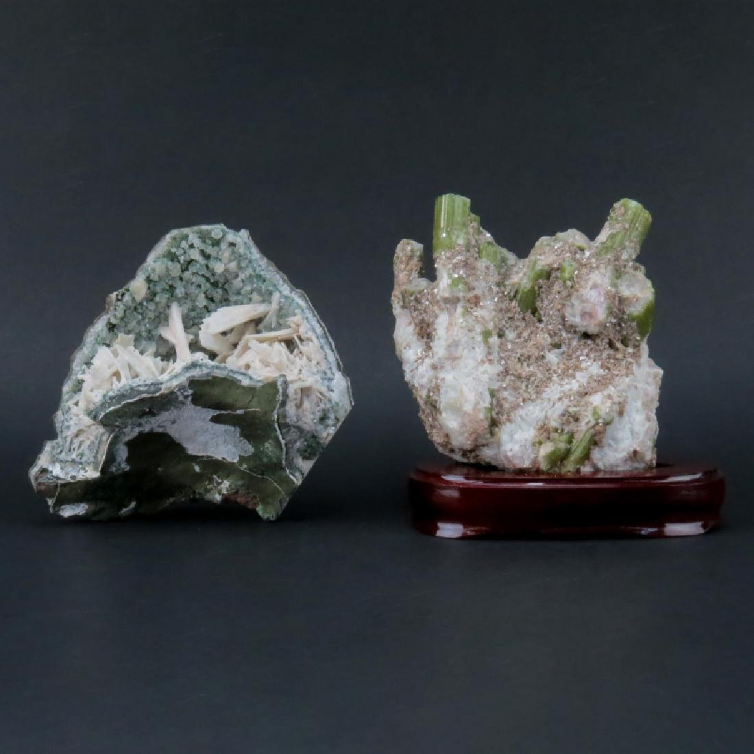 Grouping of Two (2) Gemstone Mineral Specimens. One has