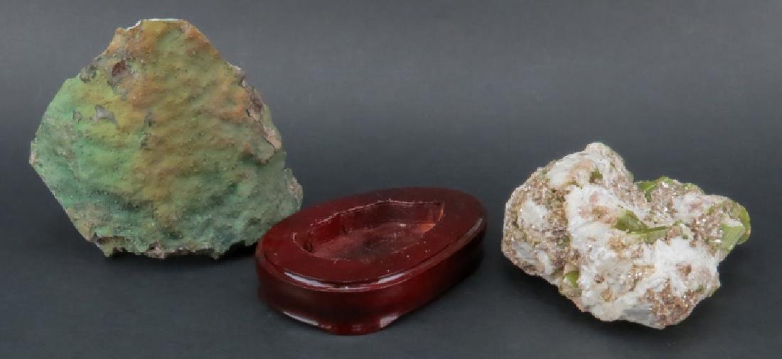 Grouping of Two (2) Gemstone Mineral Specimens. One has - 2