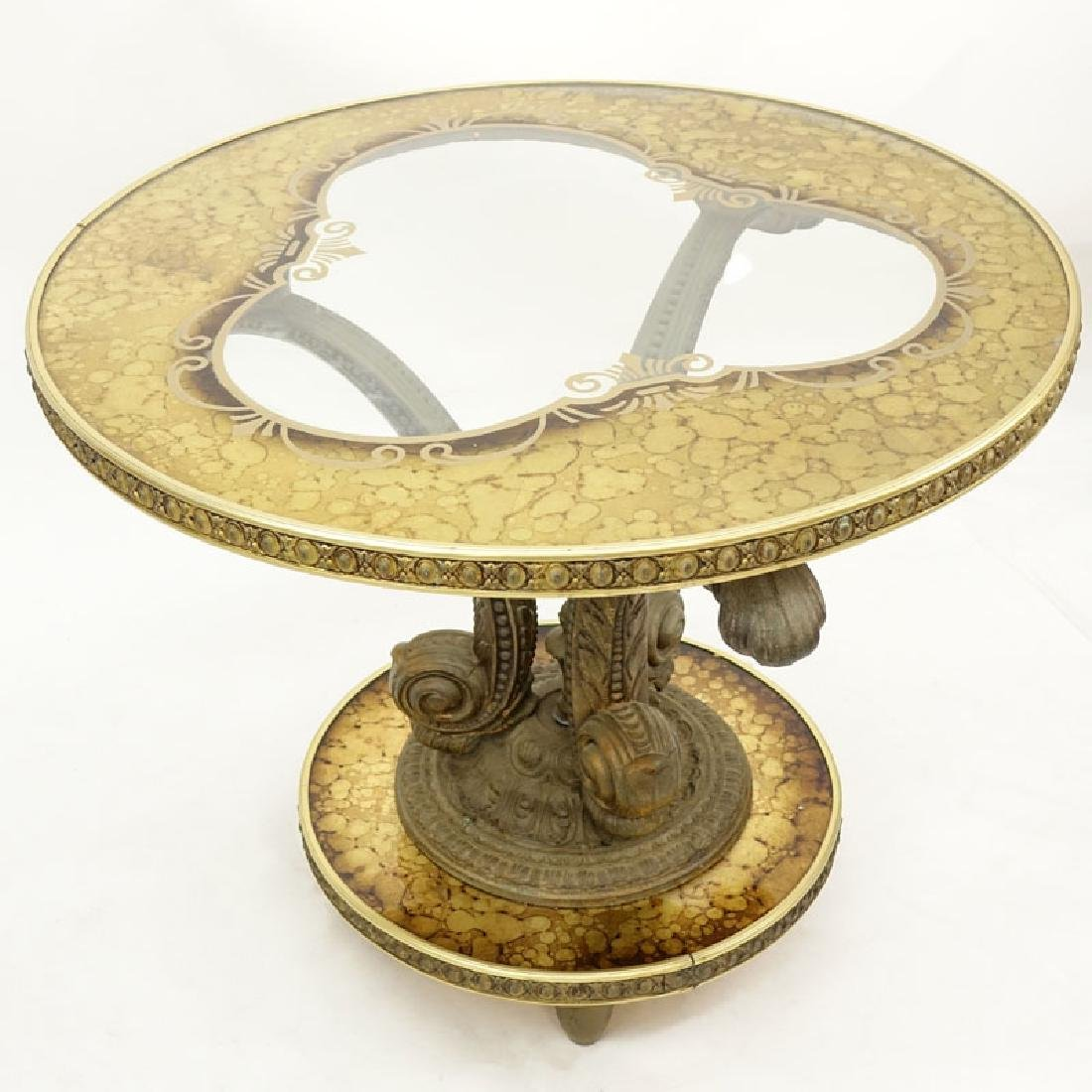 Mid 20th Century Hollywood Regency Gilt White Metal,
