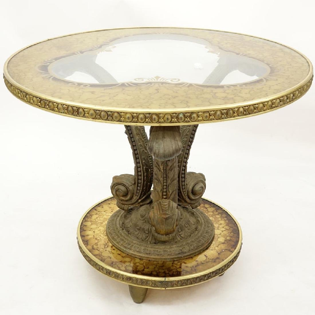Mid 20th Century Hollywood Regency Gilt White Metal, - 2