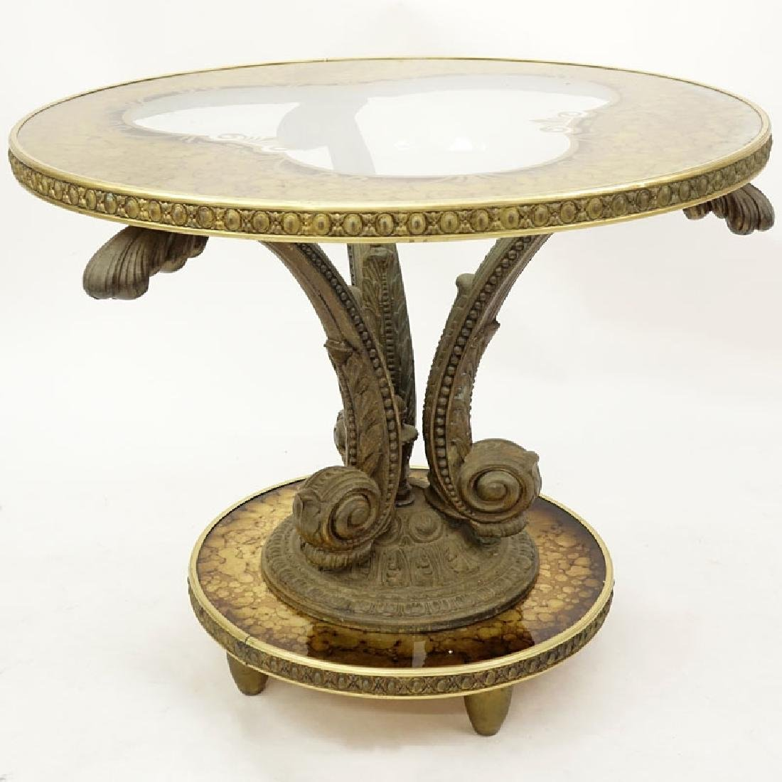 Mid 20th Century Hollywood Regency Gilt White Metal, - 6
