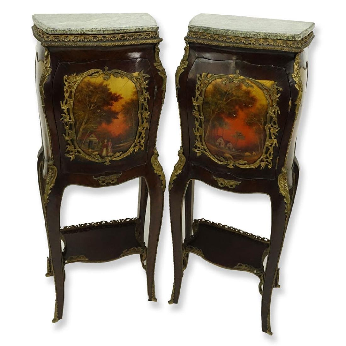 Pair of 20th Century Louis XV Style and Vernis Martin