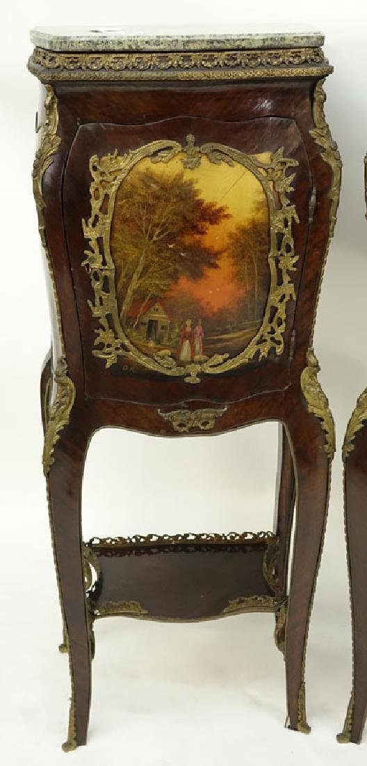 Pair of 20th Century Louis XV Style and Vernis Martin - 2