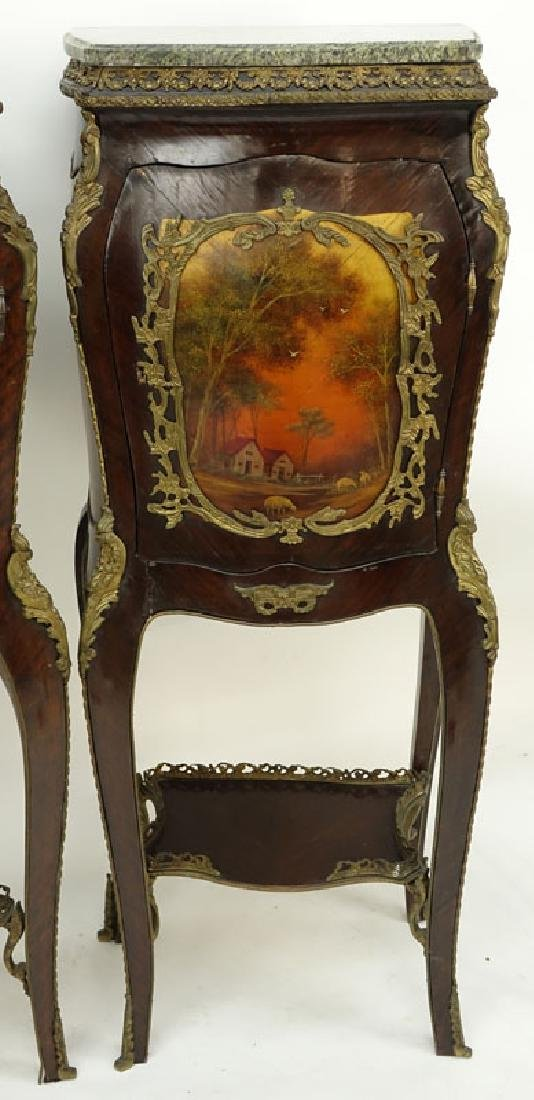 Pair of 20th Century Louis XV Style and Vernis Martin - 3