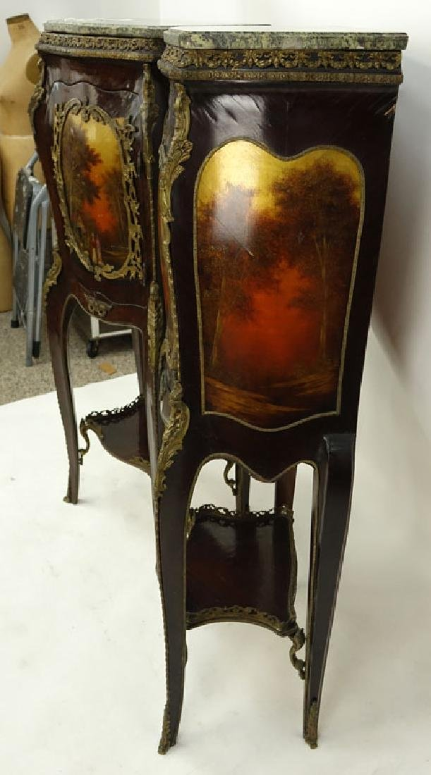 Pair of 20th Century Louis XV Style and Vernis Martin - 7