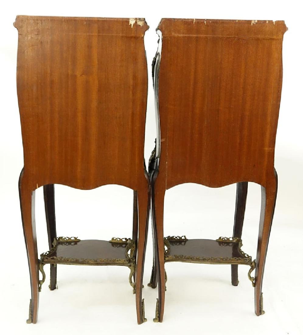 Pair of 20th Century Louis XV Style and Vernis Martin - 8
