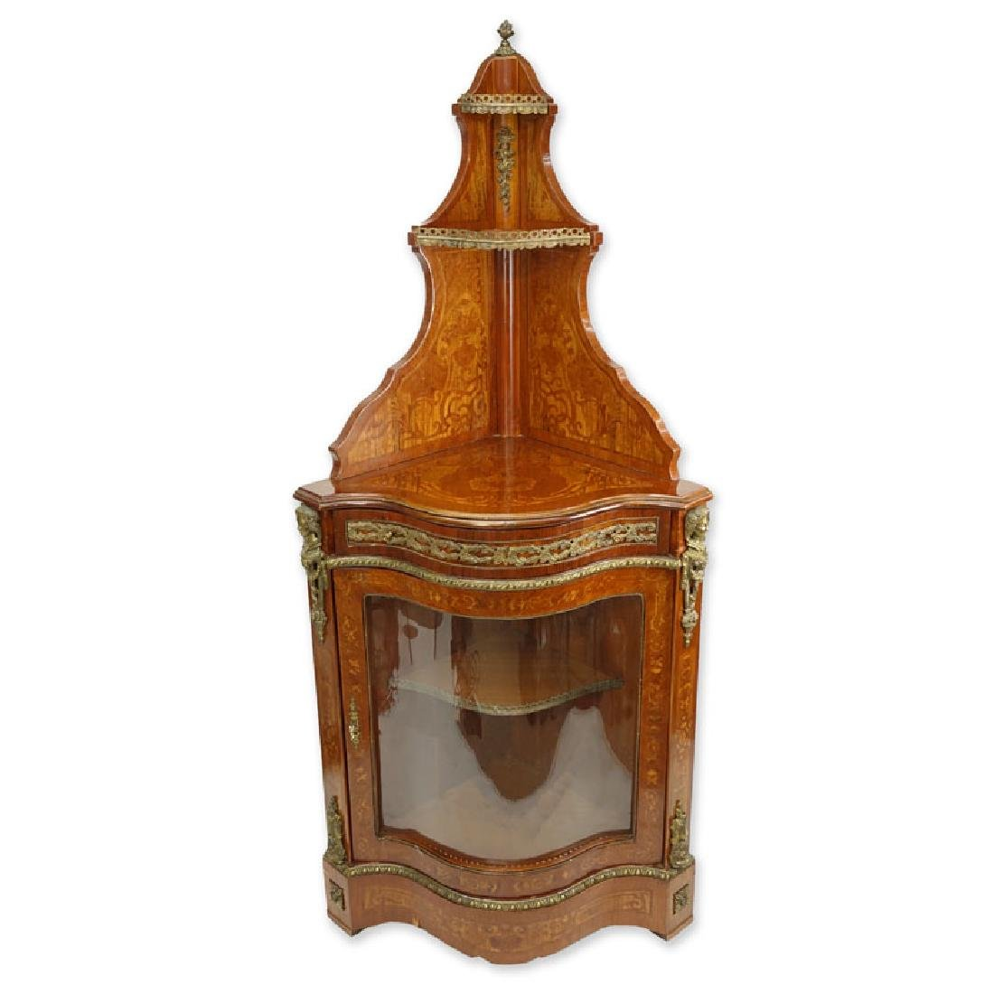 20th Century Louis XVI Style Mahogany Floral Inlaid,