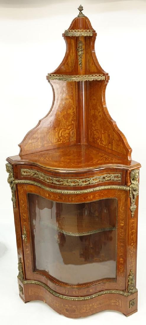 20th Century Louis XVI Style Mahogany Floral Inlaid, - 3