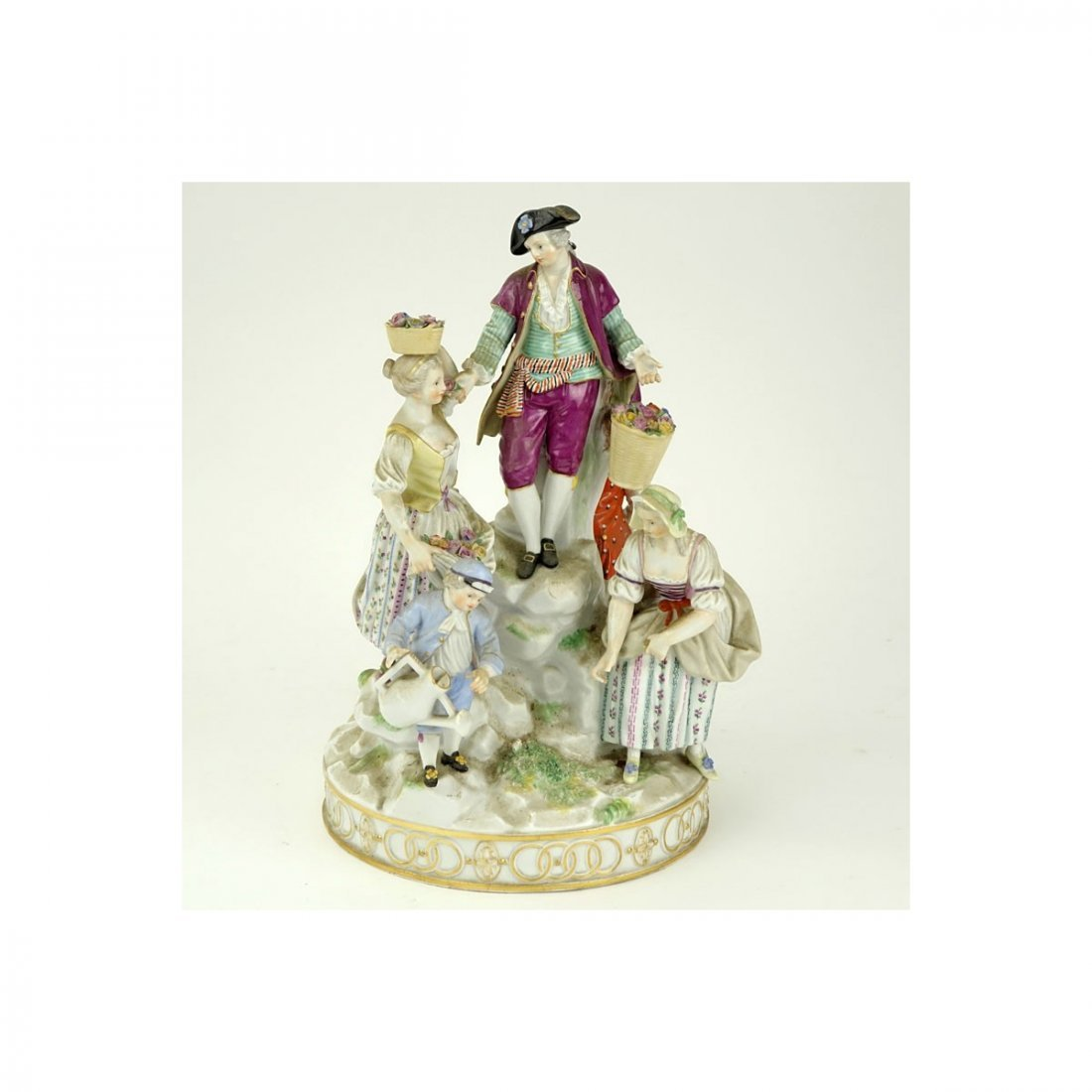 19th Century Meissen Hand Painted Porcelain Figural - 2