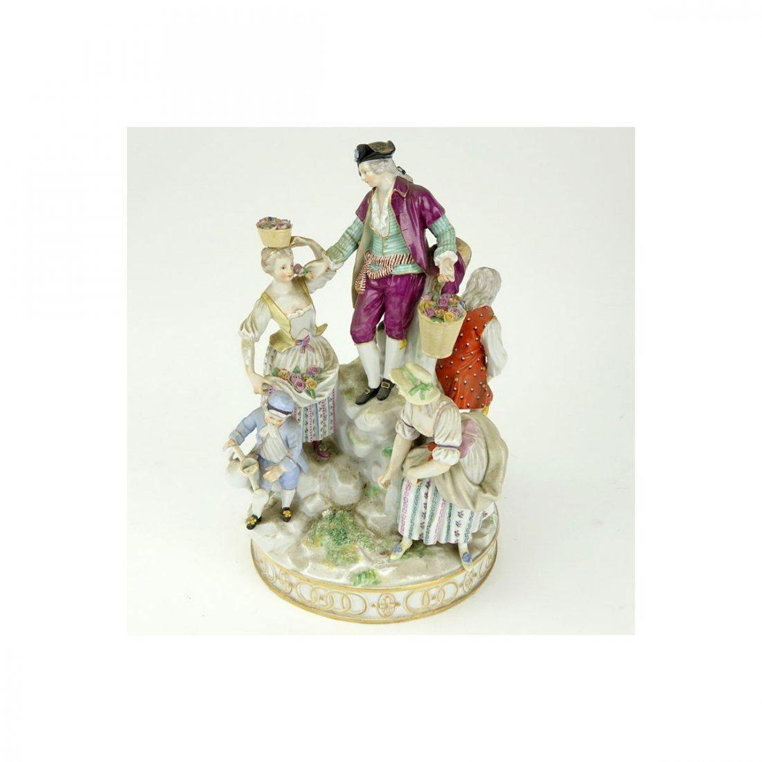 19th Century Meissen Hand Painted Porcelain Figural - 4