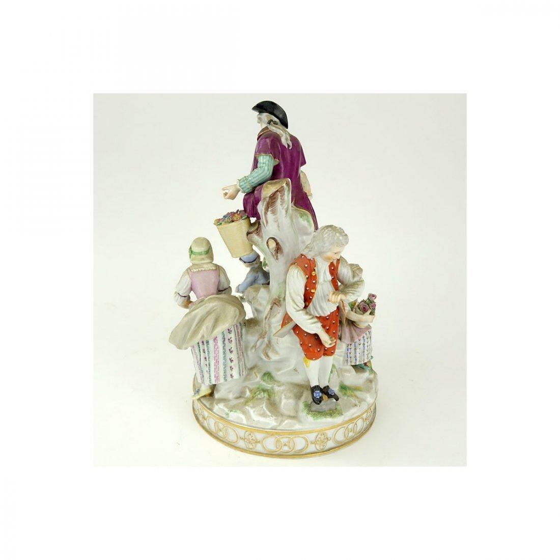 19th Century Meissen Hand Painted Porcelain Figural - 5