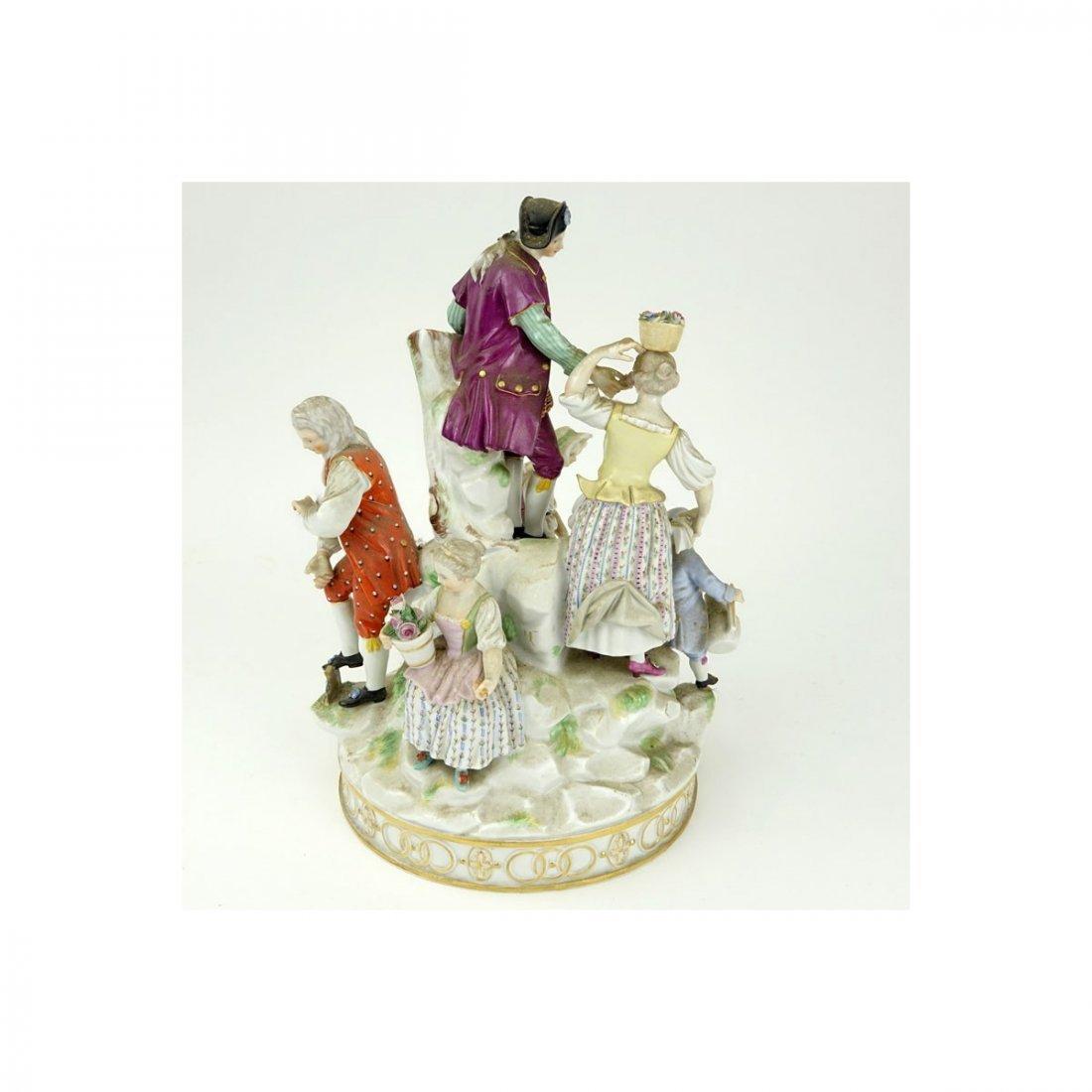 19th Century Meissen Hand Painted Porcelain Figural - 6