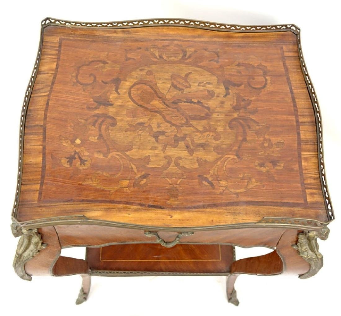 20th Century Louis XV Style Bronze Mounted Marquetry - 4