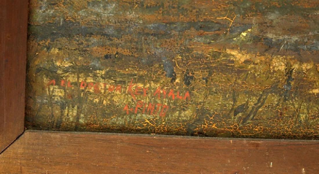 "Abdon Pinto, Venezuelan (20th C) Paint on canvas ""Site - 3"