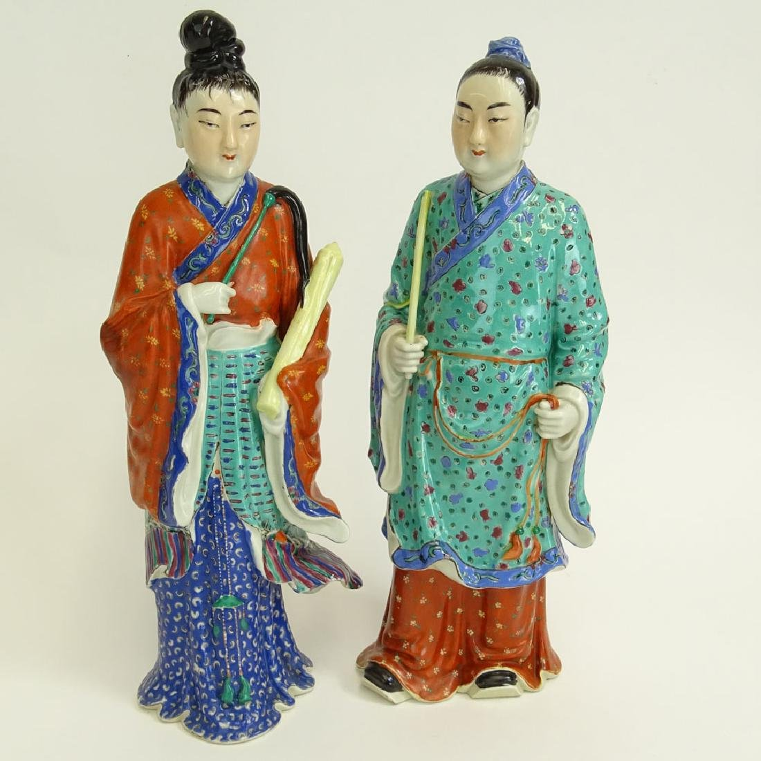 Two (2) Mid 20th Century Chinese Porcelain Figures