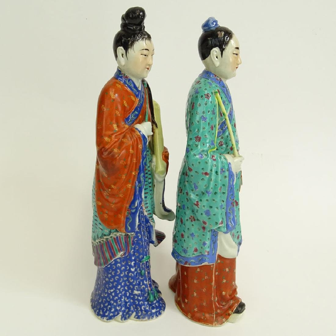 Two (2) Mid 20th Century Chinese Porcelain Figures - 2