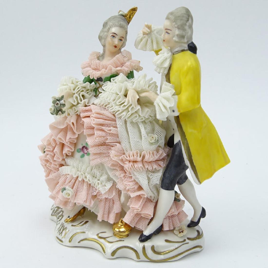 Dresden Porcelain Figural Group. Dresden back stamp on