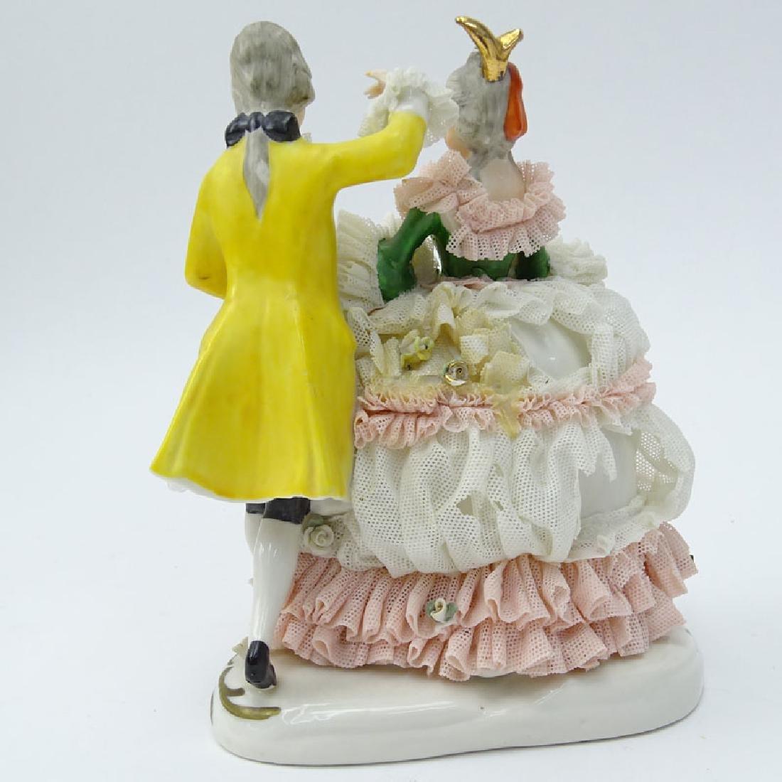 Dresden Porcelain Figural Group. Dresden back stamp on - 2