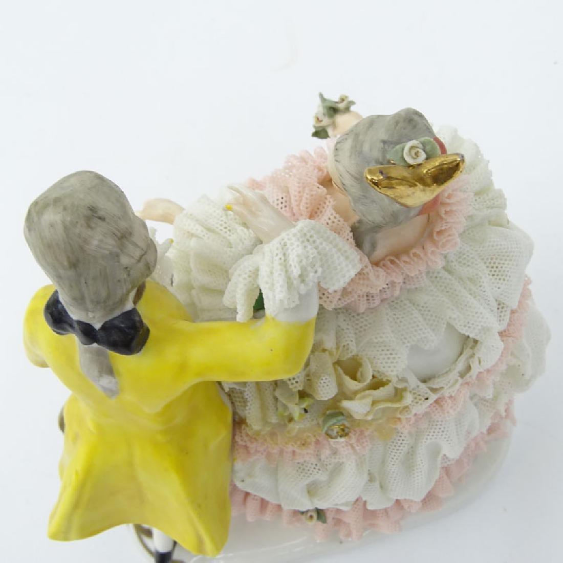 Dresden Porcelain Figural Group. Dresden back stamp on - 3