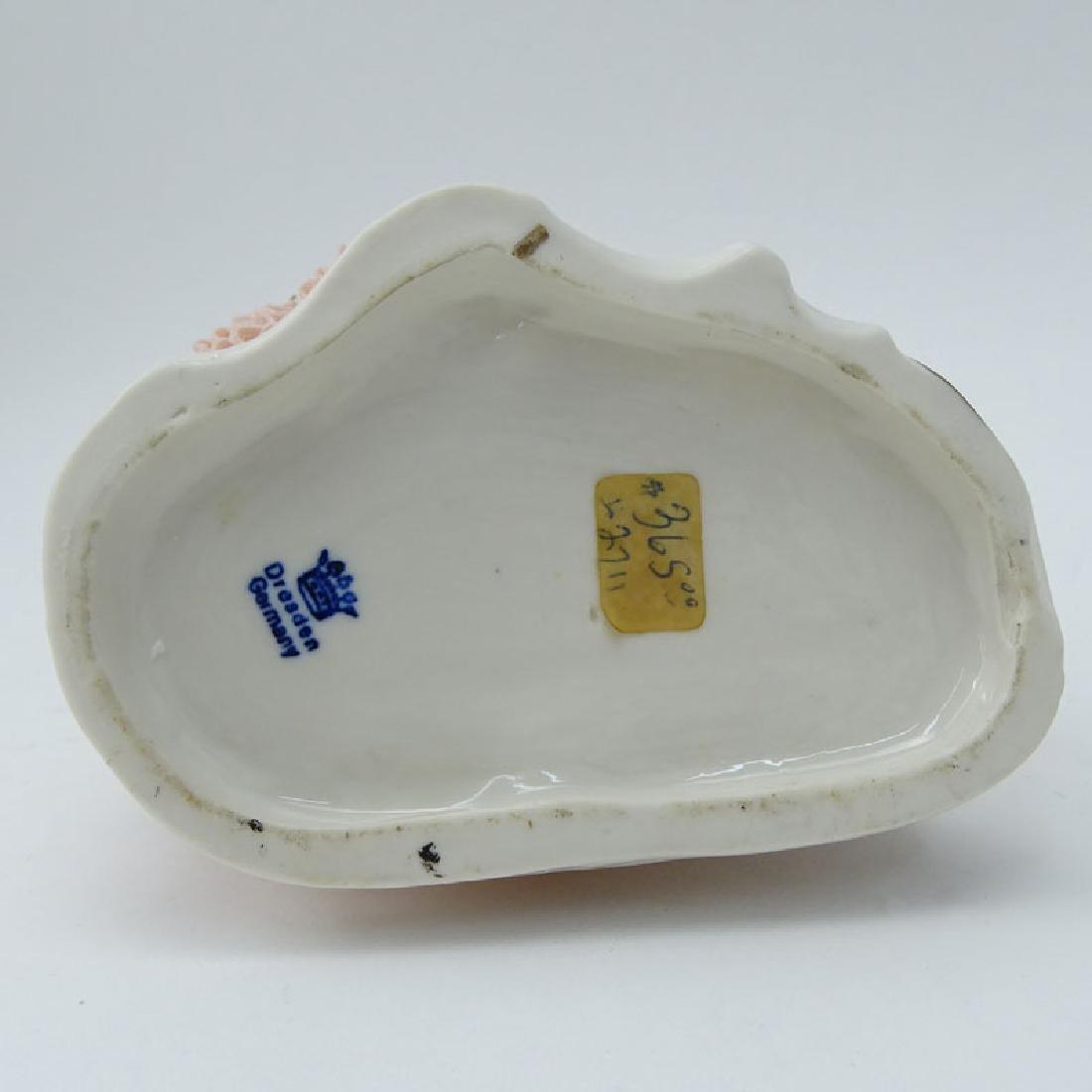 Dresden Porcelain Figural Group. Dresden back stamp on - 7