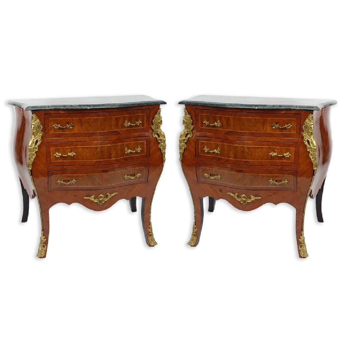 Pair of 20th Century Louis XVI Style Marquetry Inlaid