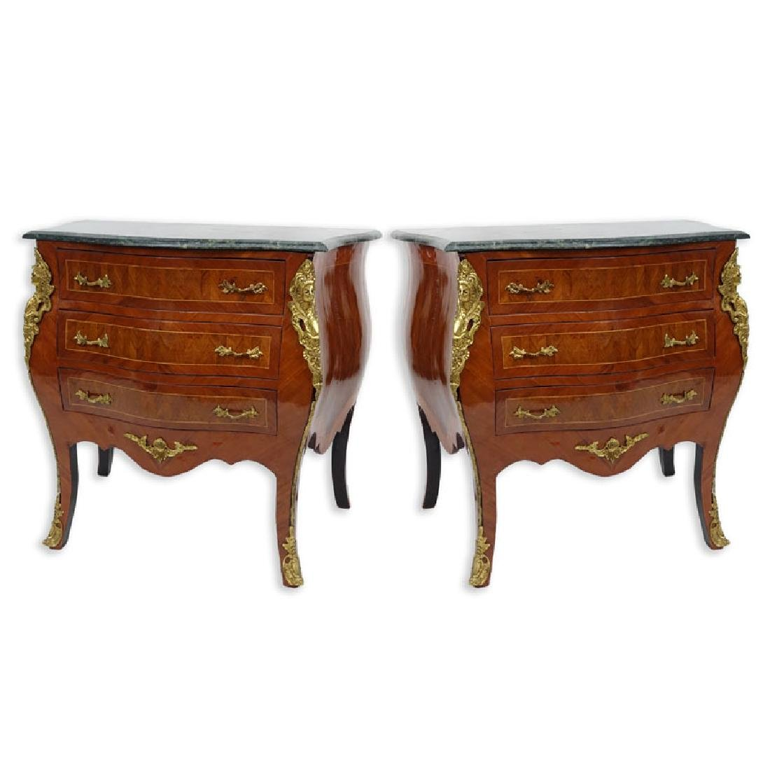 Pair of 20th Century Louis XVI Style Marquetry Inlaid - 3