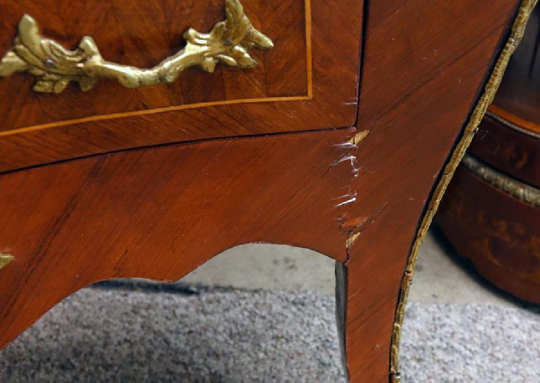 Pair of 20th Century Louis XVI Style Marquetry Inlaid - 8