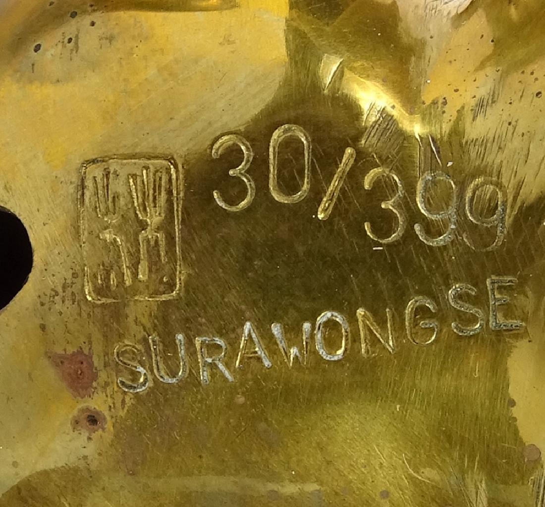 "Contemporary Taiwanese Gilt Bronze Figurine ""Seated - 7"