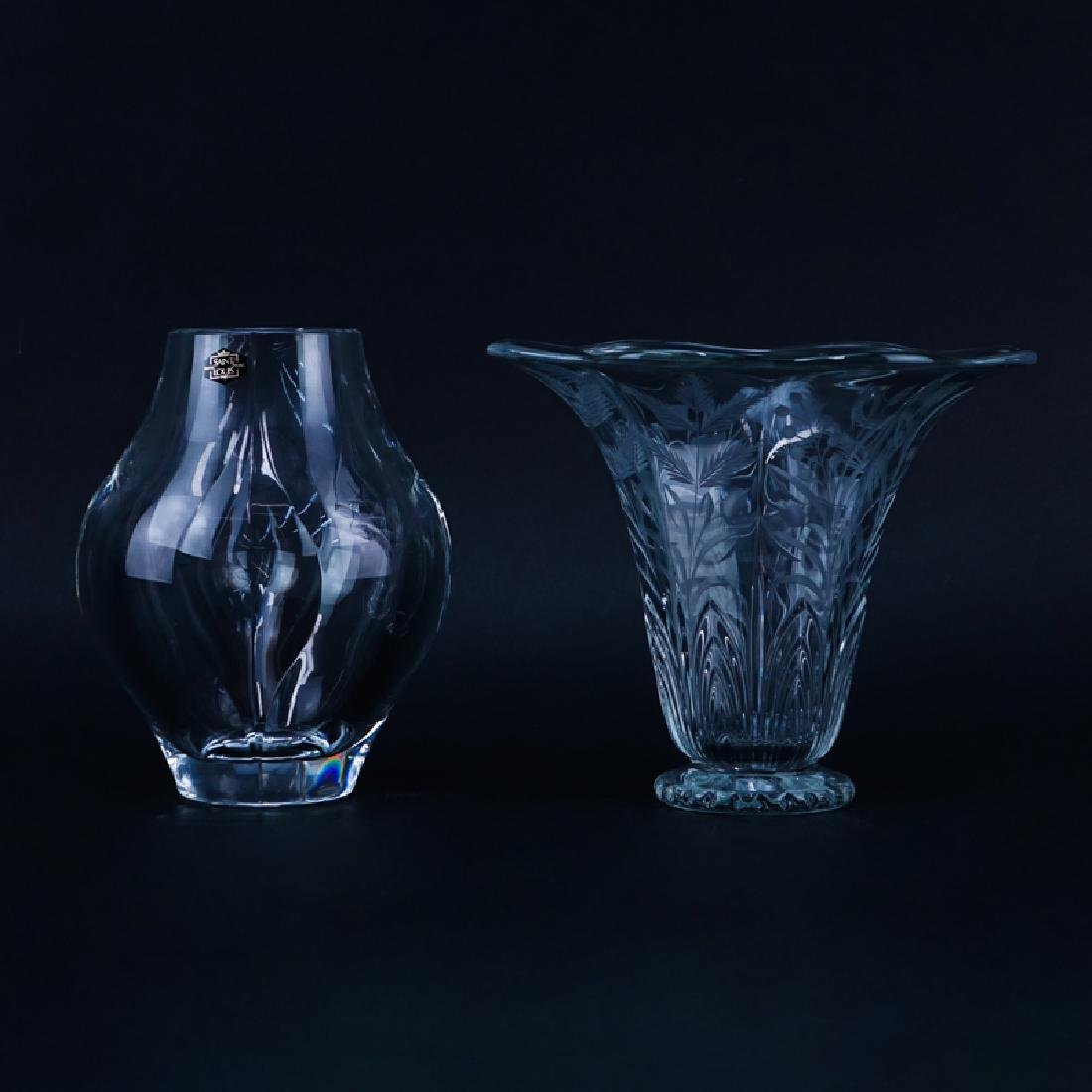 Lot of Two (2) Tableware, St. Louis Crystal Vase along