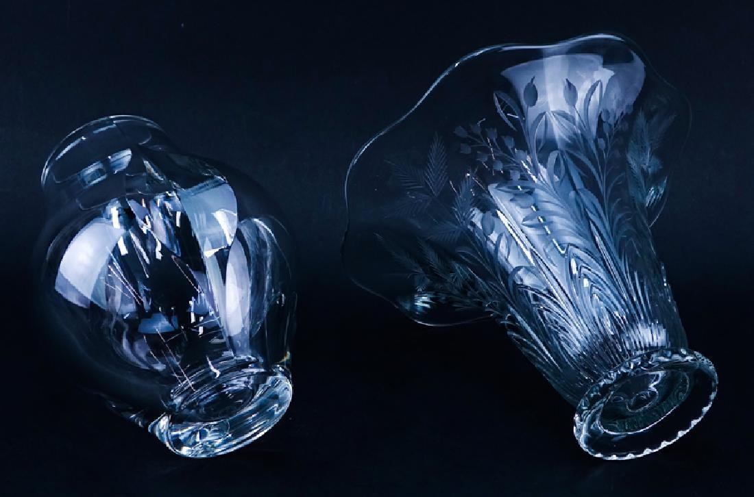 Lot of Two (2) Tableware, St. Louis Crystal Vase along - 3