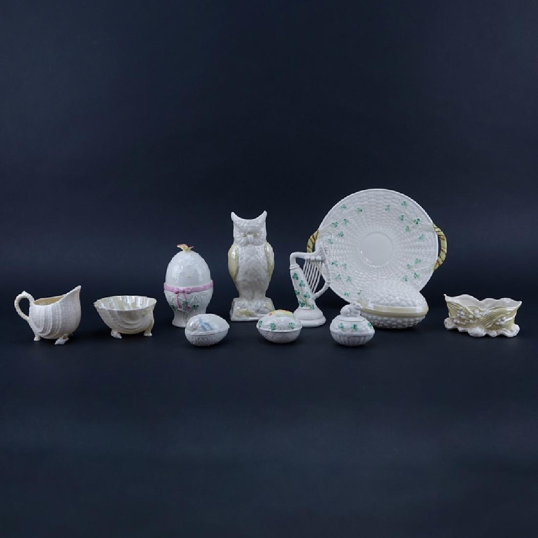 Collection of Eleven (11) Belleek Porcelain Tableware.