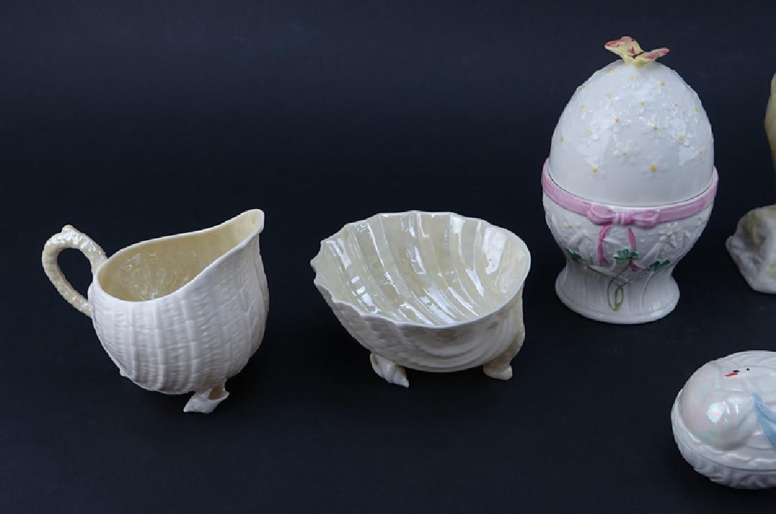 Collection of Eleven (11) Belleek Porcelain Tableware. - 2
