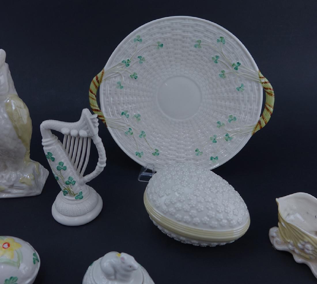 Collection of Eleven (11) Belleek Porcelain Tableware. - 3