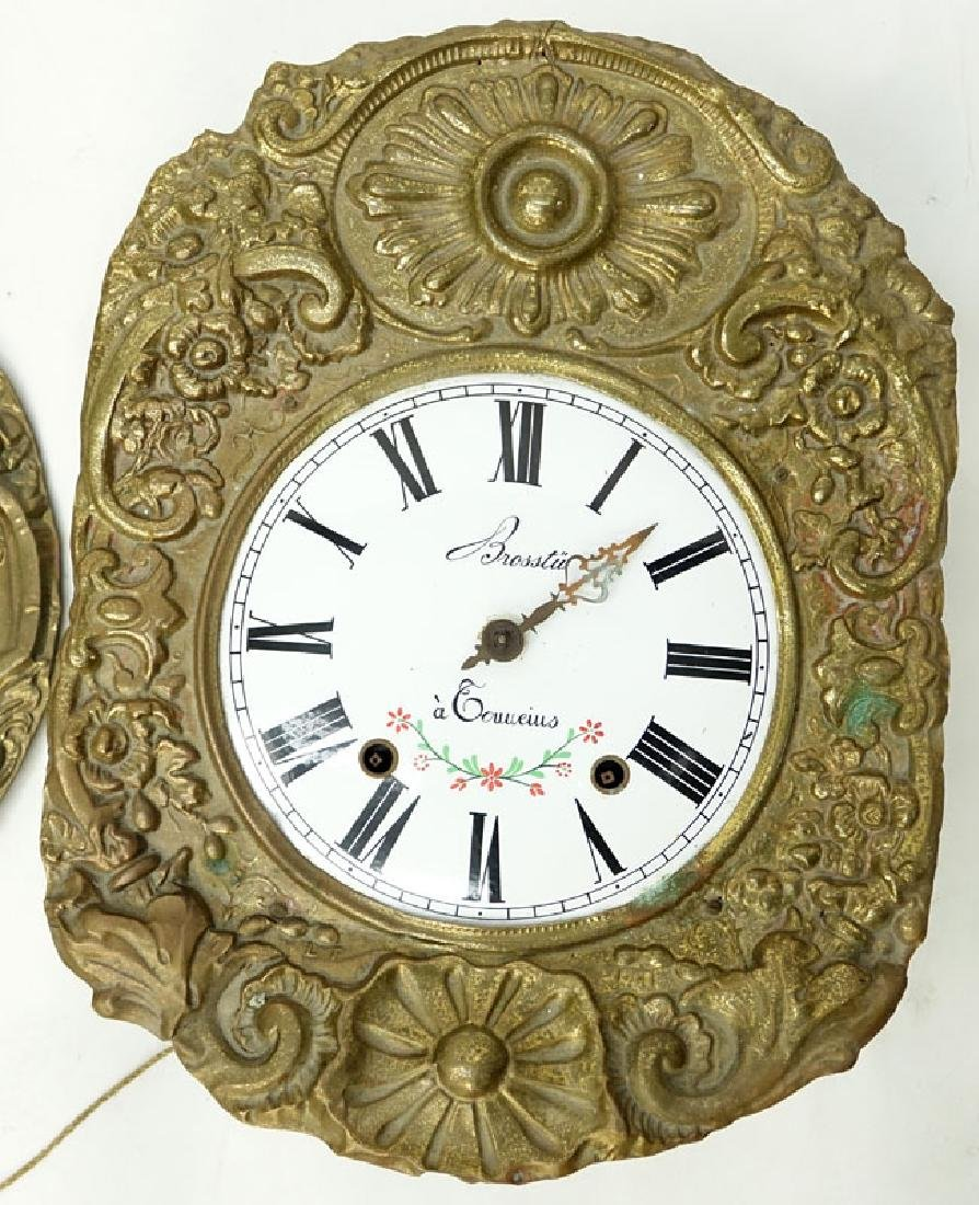 Antique French Brass High Relief Morbier Clock. - 2