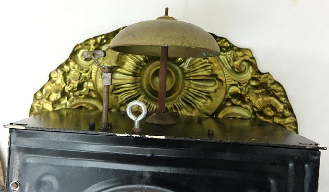 Antique French Brass High Relief Morbier Clock. - 6