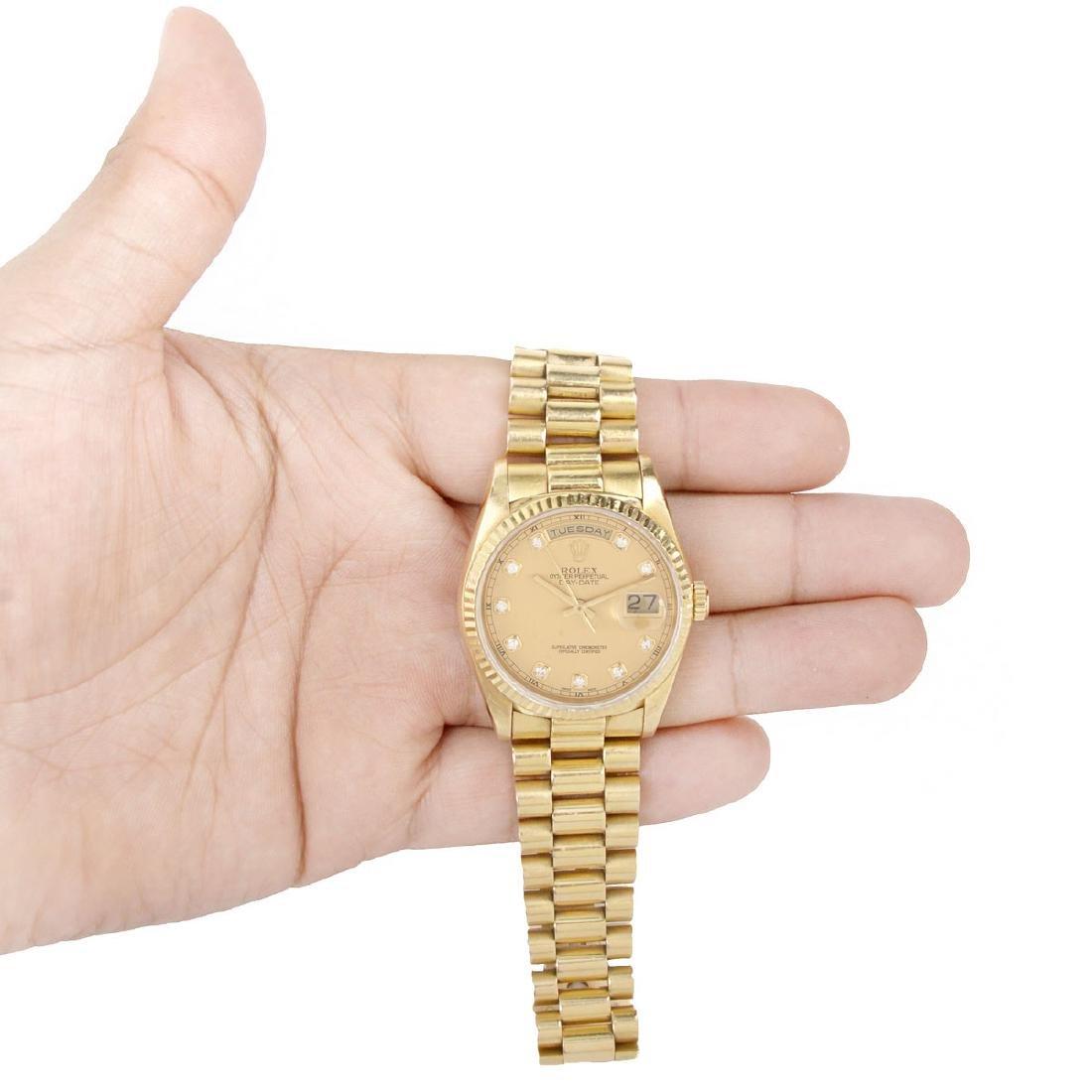 Man's Rolex 18K President Day-Date - 4