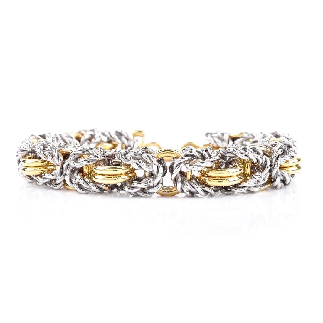 Italian 18K Gold Link Bracelet
