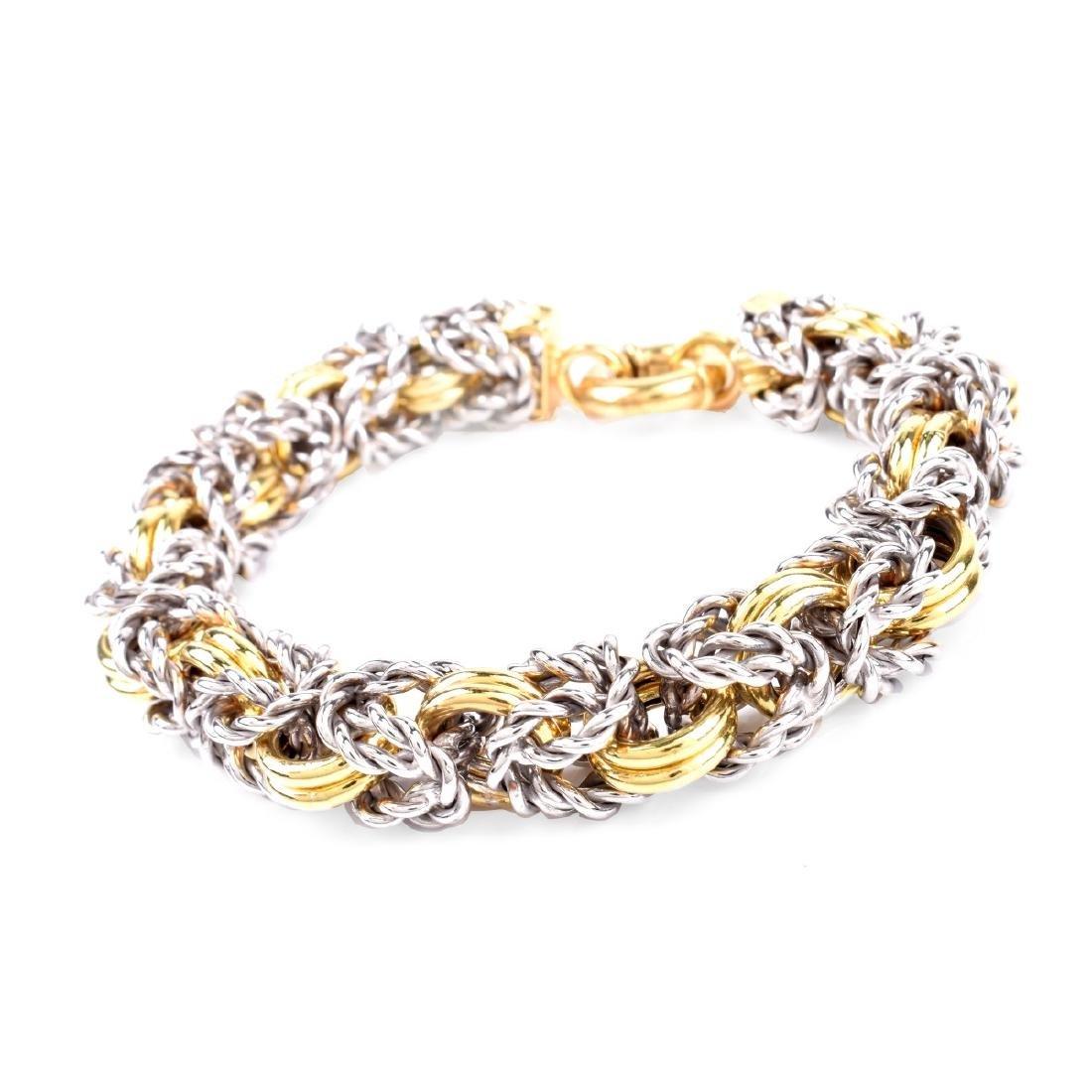 Italian 18K Gold Link Bracelet - 2