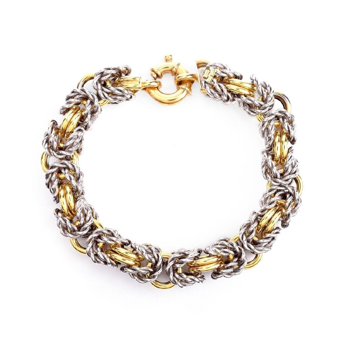 Italian 18K Gold Link Bracelet - 3