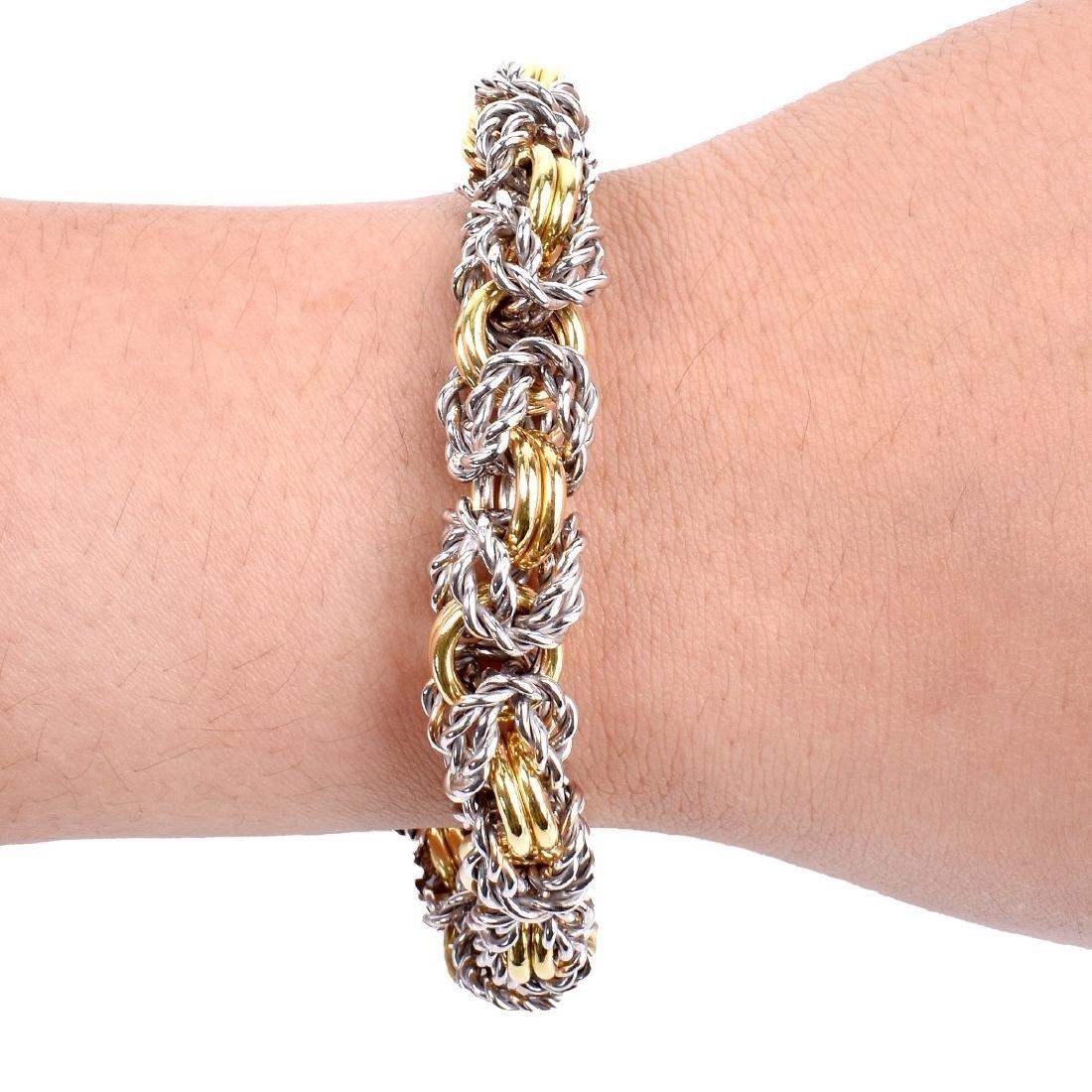 Italian 18K Gold Link Bracelet - 6