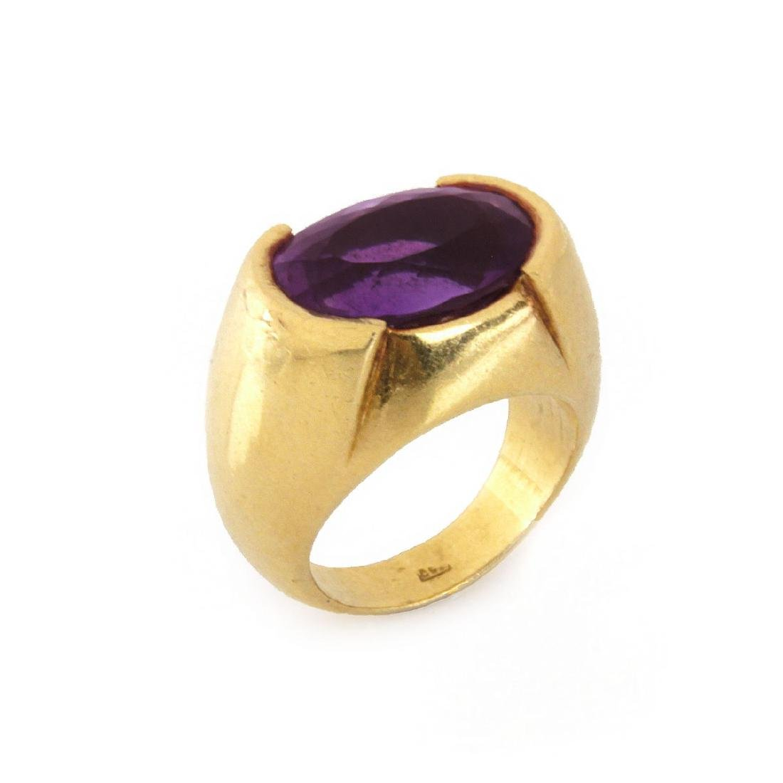 Vintage Amethyst and 18K Ring