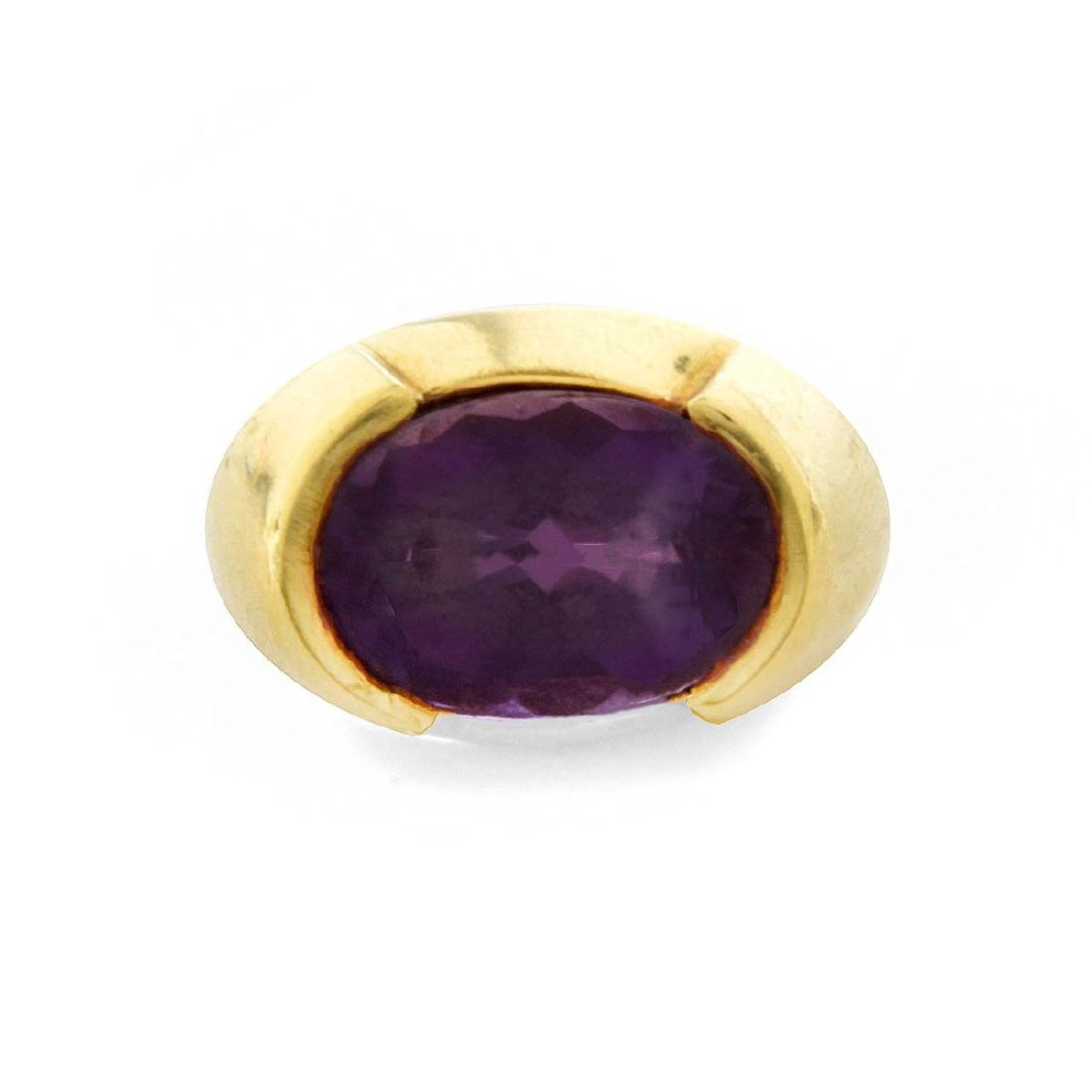 Vintage Amethyst and 18K Ring - 2