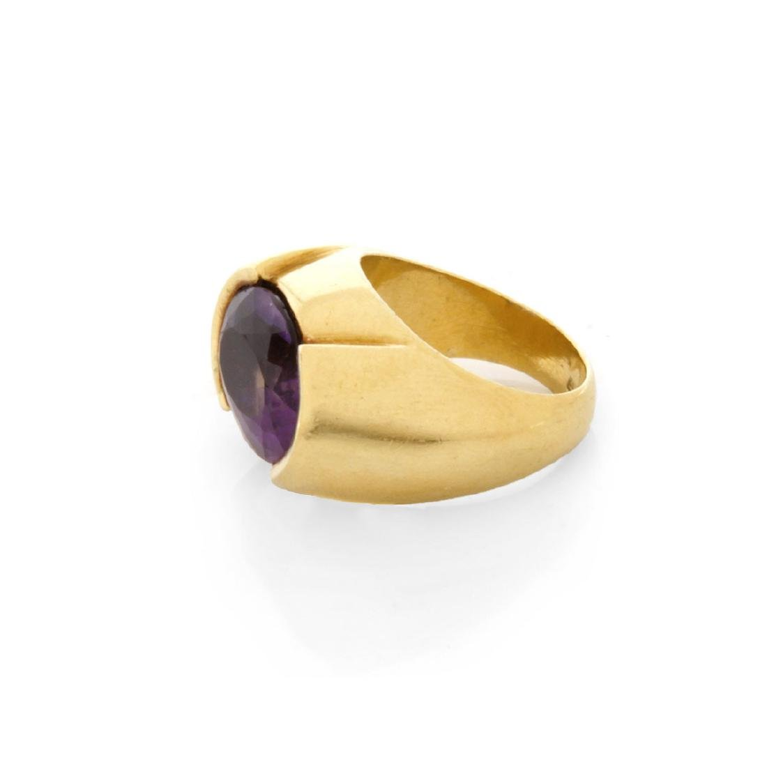 Vintage Amethyst and 18K Ring - 3